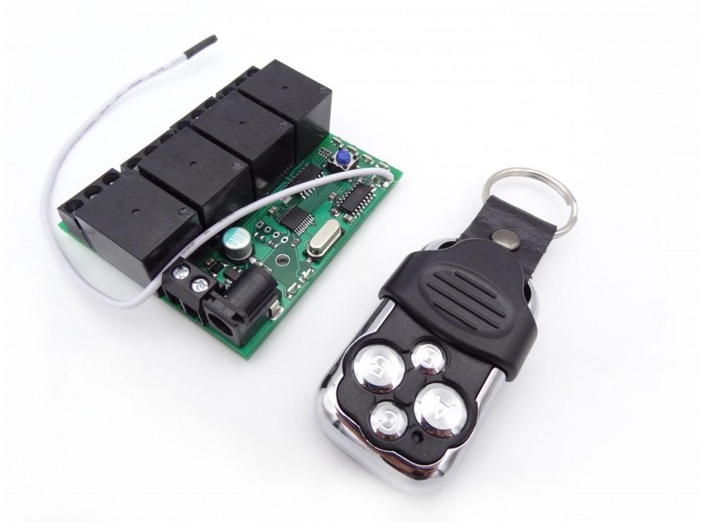 گیرنده 4 کانال لرنینگ 315MHZ دارای 42 حافظه به همراه ریموت