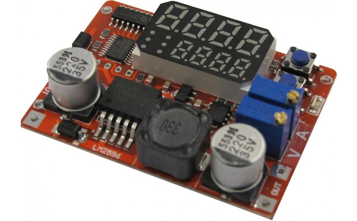ماژول تغذیه DC-DC هوشمند با نمایشگر جریان و ولتاژ و شارژ انواع باتری